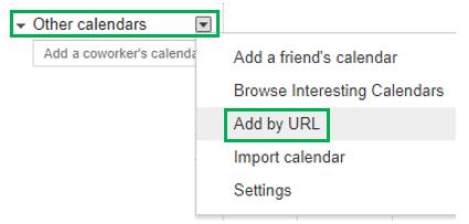 Add Calendar
