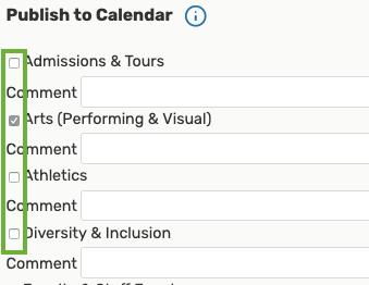 Select event calendar